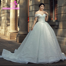 AOLANES Luxury Wedding Dresses 2018 Ball Gown Dresses