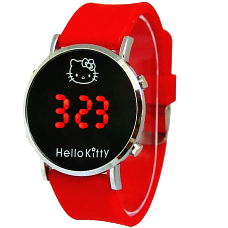 Costumes & Accessories Novelty & Special Use Animation Hello Kitty Magnifier Clock Wrist Hello Kitty Pink Gemstone With Diamonds Watches Children Electronic Watch Cosplay Soft And Light