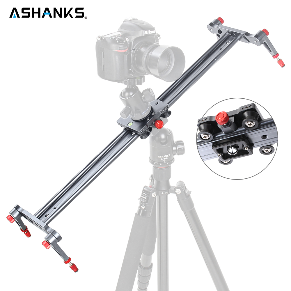 ASHANKS 40/100cm Ball-bearing Typed Camera Slider for DSLR and Video Cameras with Carrying Bag Load 33lb/15kg Cinematic Shoot lowepro protactic 450 aw backpack rain professional slr for two cameras bag shoulder camera bag dslr 15 inch laptop
