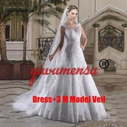 Vestidos De Novias Русалка свадебное платье плюс размеры 2019 бисер талии свадебные платья прозрачные Vestido Novia