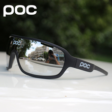 POC 3 lens Outdoor Cycling Glasses Bike Bicycle Goggles Sport Cycling Sunglasses Brand Design Men Women Cycling Eyewear(China)