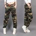Новый Дизайн Летние камуфляжные брюки женщины мода Повседневная Свободные брюки-Карго женщины Военная