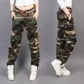 Novo Projeto do Verão camuflagem calças moda feminina Casual calças Soltas Carga mulheres Militares