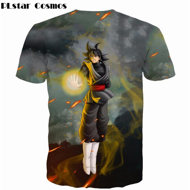 PLstar Cosmos Newest Classic Anime Dragon Ball Z Super Saiyan 3D T-Shirt Fire Black Goku t shirts Galaxy t shirt Hip Hop Tops