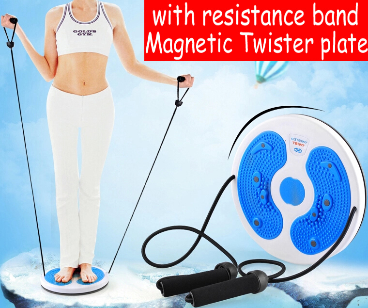 with Cord resistance Bands belt Magnetic Twister plate Twist Boards stepper Health thin waist Home yoga Gym fitness