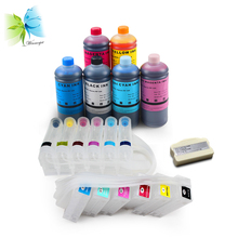 WINNERJET 1set CISS+1pc Chip Resetter+6 liters Dye Ink For Epson PP100 Printer