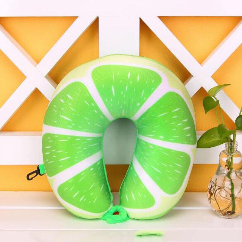 Cool Fruit U Vormige Kussen Kussen Nanodeeltjes Bescherming Nekkussen Auto Reizen Massage Kussen 3d Friut Kussen Aantrekkelijk En Duurzaam