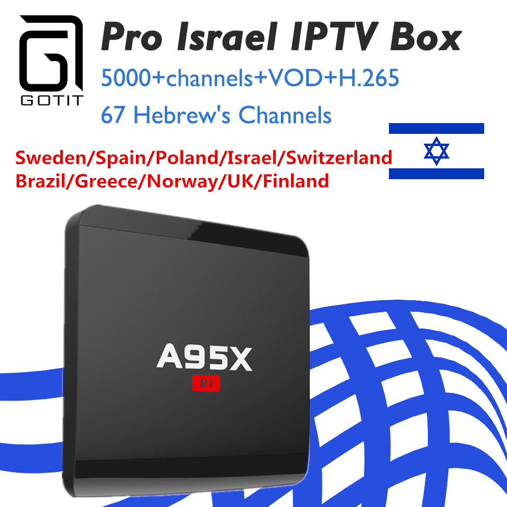 Sofobod Israel A95X-R1 Android tv box Europe Hebrew Norway Sweden qhdtv account Poland subtv pro iptv For Android Smart TV Box alfawise a95x r1 tv box