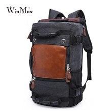 Winmax, высокое качество, профессиональная мужская дорожная сумка, водонепроницаемая, холст, большой, мужской, многоцелевой, дорожный рюкзак, двойная сумка на плечо