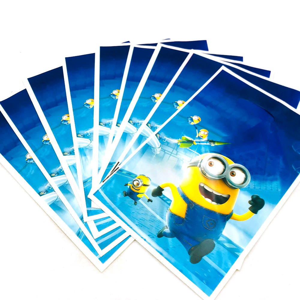 10pcs/set Minions Loot Bag Gift Plastic Bag Cartoon Theme Boy Girl Happy Birthday Party Decoration Party Supplies For Kids Favor