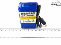 1pcs/lot 12V 2600mah lithium battery Rechargeable DC battery polymer batteria For monitor motor LED light outdoor spare Battery