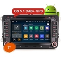 "Erisin ES3048V 7"" Android 5.1 Car DVD Player for VW with vw camera decoder"