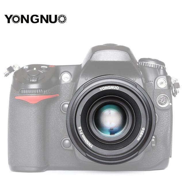 Original YONGNUO 50mm f1.8 primer lente de cámara de gran apertura de enfoque automático para NIKON d5200 d3300 d5300 d90 d3100 d5100 s3300 d5000