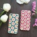 Luxury vintage flor rosa 360 grados proteger plena teléfono case con vidrio templado para el iphone 5,6, 6 s, 6 además, 7,7 más pc contraportada