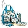 Bolsa Maternidade младенца мешок пеленки мешок многофункциональный мода пеленки младенца рюкзак печать мать большой емкости мумия