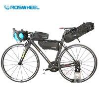 Roswheel велосипедов Сумка 4 шт. Водонепроницаемый Велоспорт передней рамы велосипеда седельная сумка наборы дорога горный велосипед мешок вел