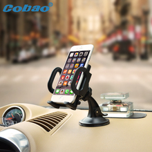 Cobao universal car windshield phone holder strong suction sticky car dashboard holder stand support for iPhone Galaxy mount