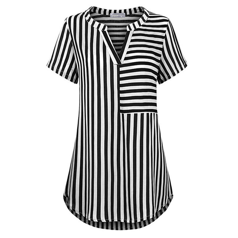 Women V-Neck Heart Print Patchwork Lace Short Sleeve Blouse T Shirt Tops S-5XL