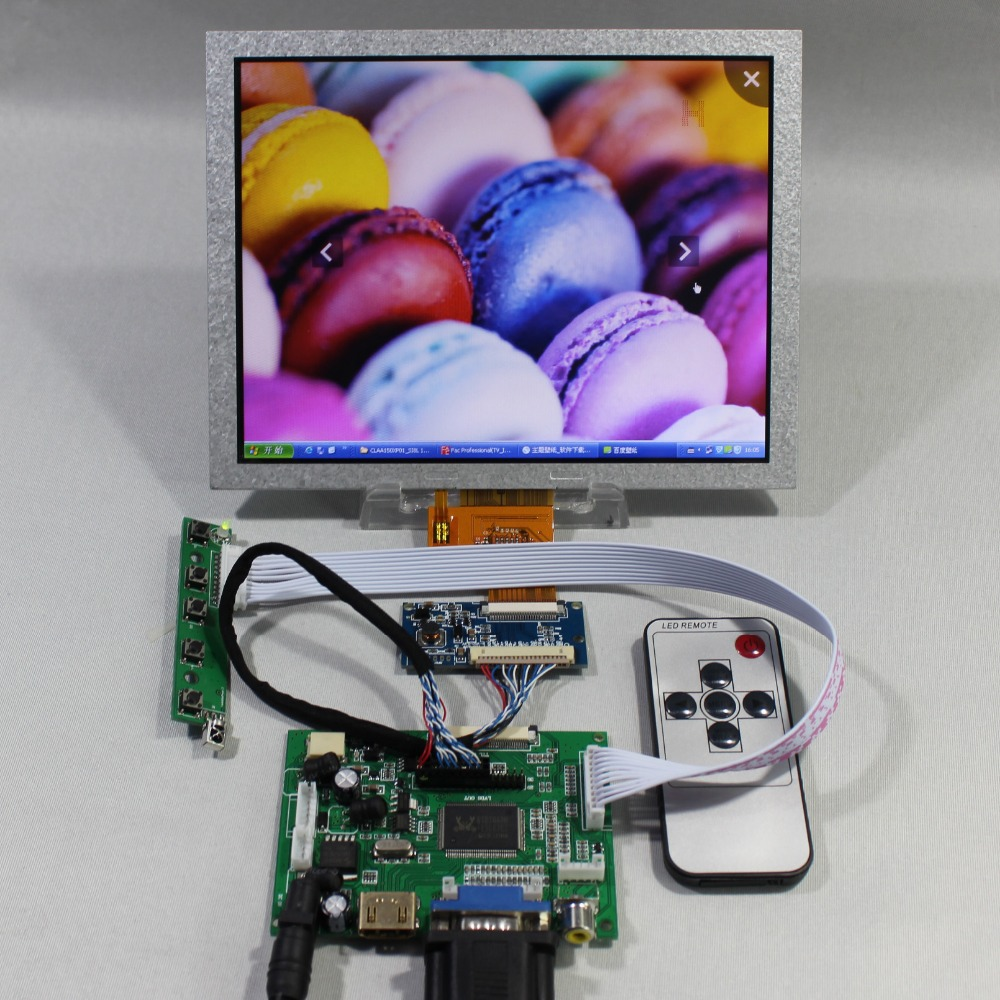 HDMI VGA 2AV LCD Controller Board+8inch EJ080NA-04B EJ080NA-04C 1024x768 LCD Screen vga 2av revering driver board 8inch 800 600 lcd panel ej080na 05b at080tn52 page 4