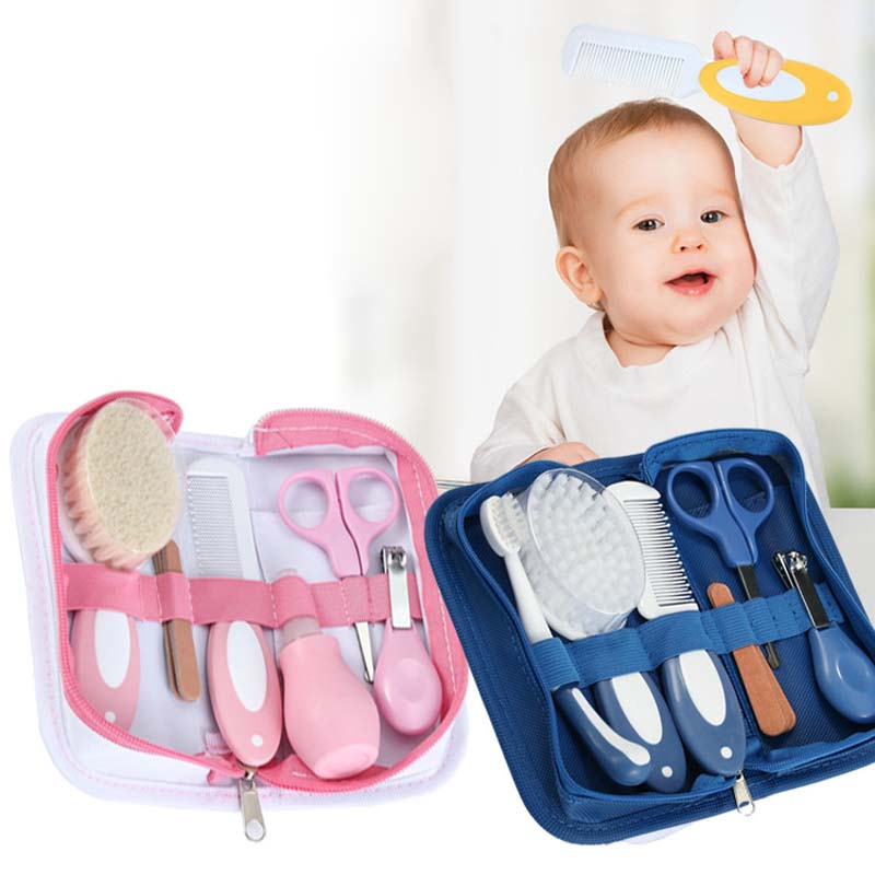 6pcs Baby Grooming Health Care Manicure Set Baby Brush And