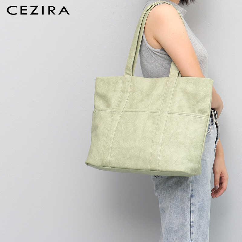CEZIRA большая акция Распродажа для высококачественной Веганской искусственной кожи женские сумки на плечо сумки через плечо дорожные сумки большие сумки