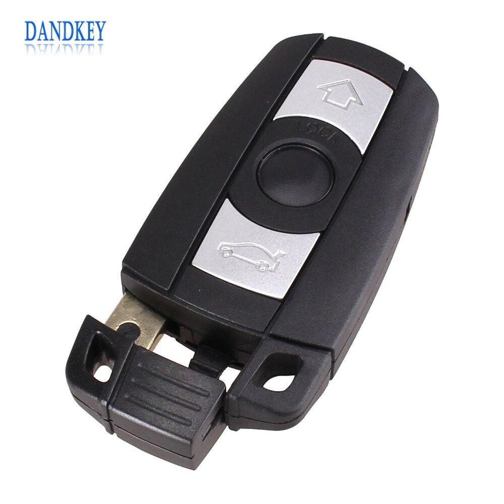Dandkey 3 Button Remote Key Case for BMW 1 3 5 6 Series Smart Key Shell Blade Fob E90 E91 E92 E60 WITH LOGO