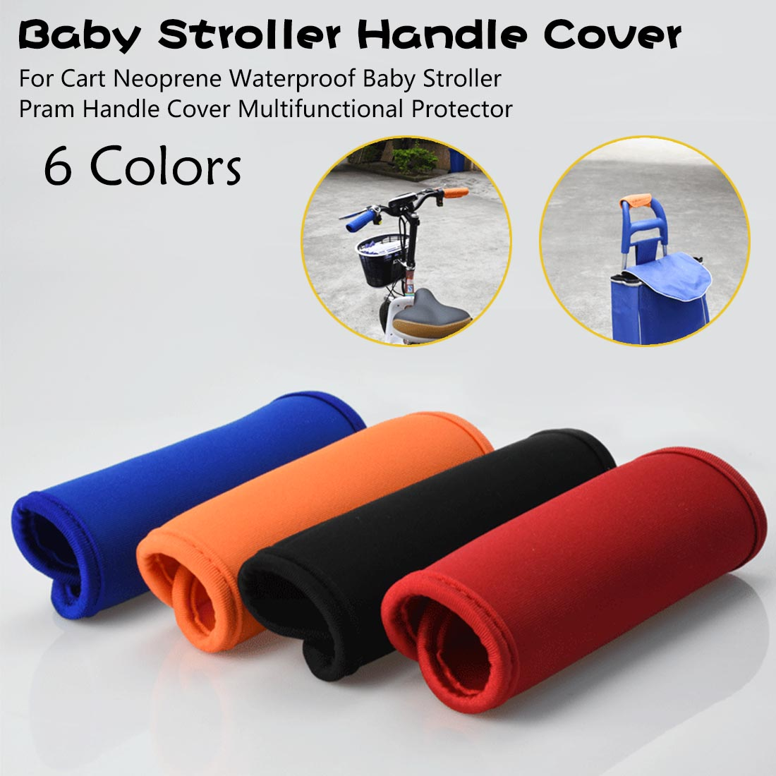 Baby Stroller Pram Handle Cover Multifunctional Protector Baby Stroller Handle Cover For Cart Neoprene Waterproof