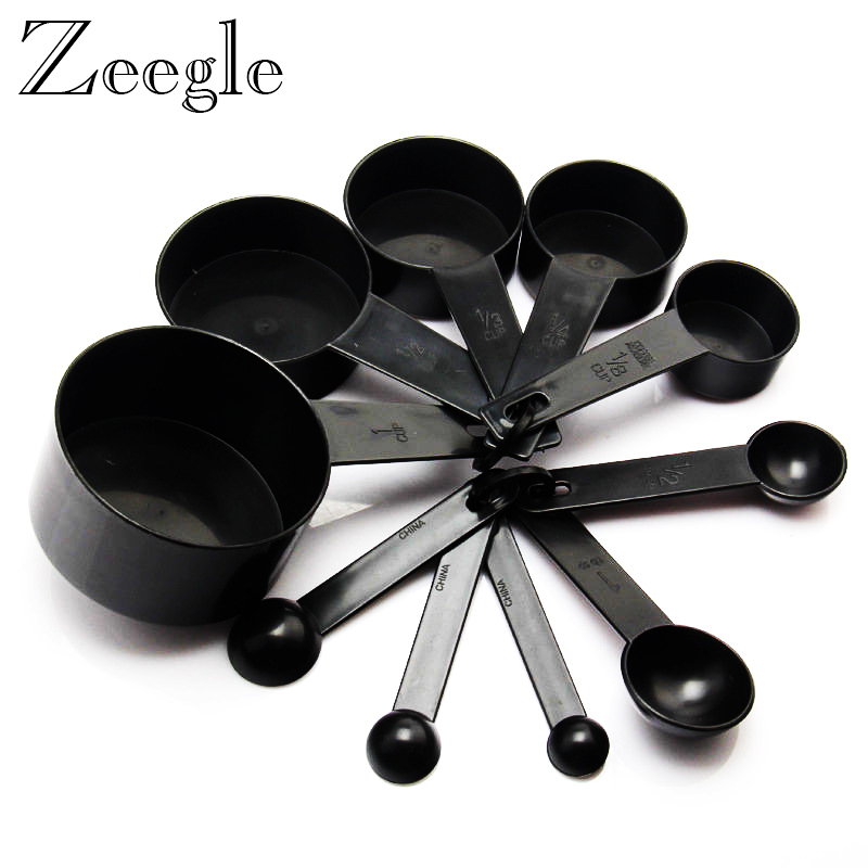 Home Appliance Parts Coffee Maker Parts Black Plastic Measuring Cup 1 Pcs Measuring Spoon Kitchen Tools Measuring Set Tools For Baking Coffee Tea
