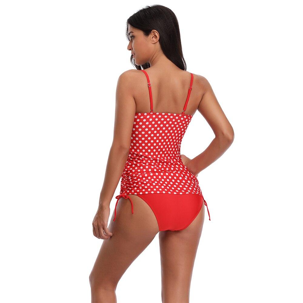 Dot do Vintage Tankini Conjunto Swimwear Acolchoado Halter