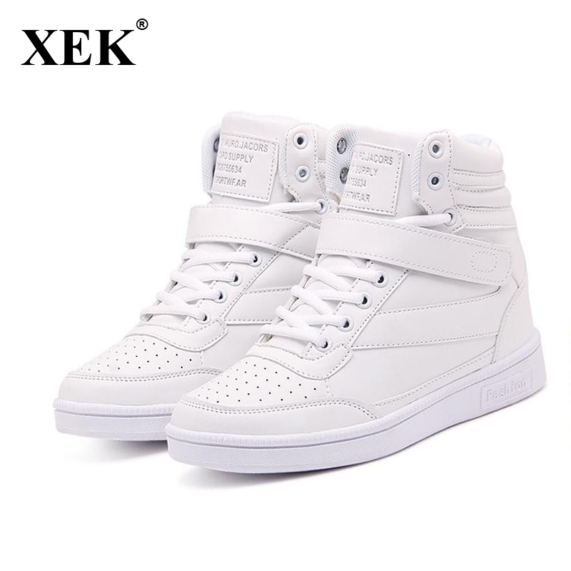 New 2017 Summer Autumn Ankle Boots Heels Shoes Women Casual Shoes Height Increased Internal High Top Shoes Winter Boots ST213 european grand prix 2016 new winter shoes high top ankle boots inside frosted increased korea shoes wholesale