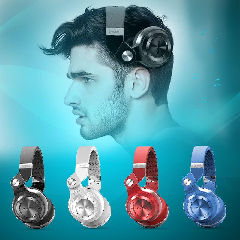 Bluedio T2 + Bluetooth plegable auriculares inalámbricos con Radio FM y funciones de tarjeta SD para el teléfono celular de música BT 4,1 auricular bajo