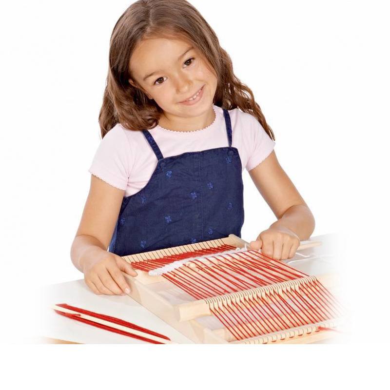 Wooden Traditional Weaving Loom Montessori Educational Wooden Toys Teaching Children Kids Toys Wooden Weaving Frame