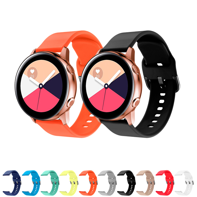 20mm Band For Samsung Galaxy Active 2 40mm 44mm S2 Classic Galaxy 42mm Amazfit Bip Strap Silicone Amazfit GTR 42mm Bracelet