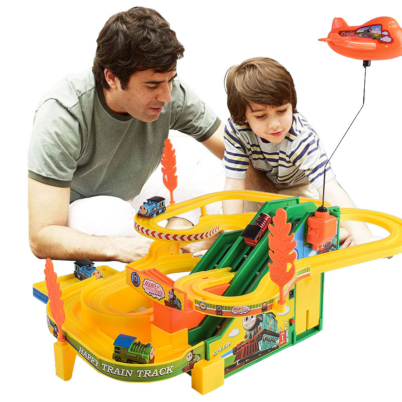 Thomas And Friends Small Train Set Rail Car Multi-layer Electric Toy Climbing Stairs Slide Children's Toys Boys And Girls Gifts