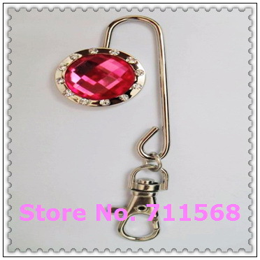 Crystal Round Shaped Key Finder With Clip For Holders Handbag And Purse Decoration