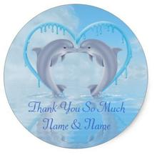 1.5inch Dolphin Thank You Wedding Favor Stickers