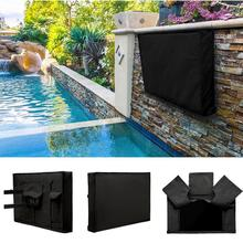New Universal Dust Resistant Cover TV Screen Cover Oxford Cloth Outdoor Television Cover Waterproof 30-58 Black flat screen outdoor tv