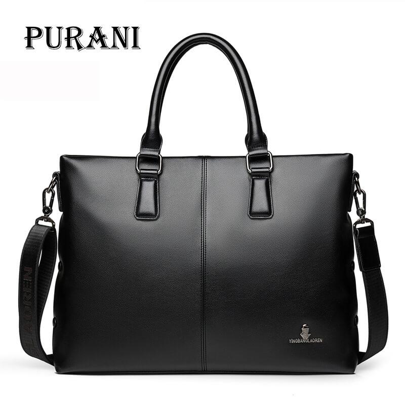 купить PURANI Messenger Bag Men Shoulder Bag PU Leather Fashion Male man briefcases laptop Handbag Men's Crossbody bags for Men Satchel по цене 2351.35 рублей