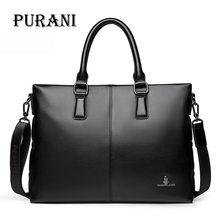 hot deal buy purani messenger bag men shoulder bag pu leather fashion male man briefcases laptop handbag men's crossbody bags for men satchel