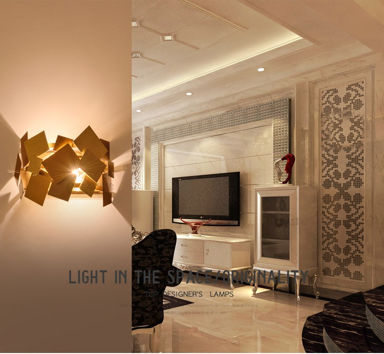 Stainless Steel Square Wall Lamp 14