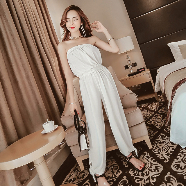 a132832d4516 Fashion Womens Overalls Rompers Womens Jumpsuit Female Jumpsuits 2018  Fashion Rompers Spring and Summer Sexy Strapless Bodysuits