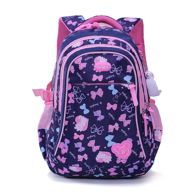2019 Children School Backpacks Printing Flower Princess Primary School Bags For Girls Light Kids Backpacks Kids Mochila Escolar