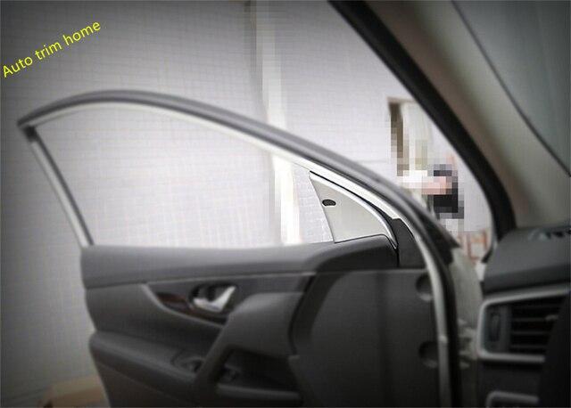 Lapetus Misura Per Nissan Qashqai J11 2014 2015 2016 2017 2018 2019 2020 ABS Interno Pilastro UNA Cornice Stampaggio Guarnisce copertura Trim 2 Pcs