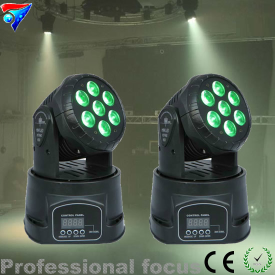 Free Shipping 2pcs/Lot High Quality Mini Wash 7*12W RGBW LED Moving Head Light free shipping 2pcs lot led moving head light edison led 3w aluminum hose flexible star hotel retrofit chrome finish