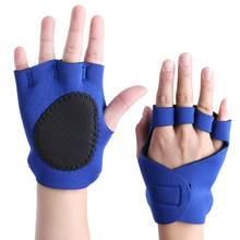 8251c8809 1 زوج اللياقة قفازات نصف الاصبع رياضة تدريب كمال الأجسام المضادة للانزلاق  تنفس الرياضة الدمبل تمرين رفع الأثقال قفازات