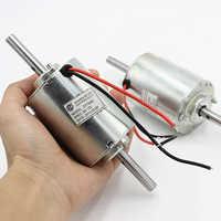 ZYT3422 DC Motor DC 12 V 3100 RPM doble bola rodamiento eje 8mm eje Mute Micro Motor doble salida ejes para masajeador, los Fans