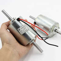 ZYT3422 DC Motor DC 12V 3100 RPM Double Ball Bearing Shaft 8mm Axis Mute Micro Motor Double Output Shafts for Massagers, Fans