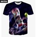 Mais novo T-shirt Dos Homens 3d Monstro Mr Bean Cozinha Barata Crânio Mulher Bonita Imprimir camiseta Homme T-Shirt Engraçado COM YZ698