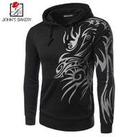 2017 Hoodies Men Sudaderas Hombre Hip Hop Mens Brand Dragon Prints Hooded Zipper Hoodie Sweatshirt Slim