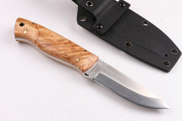 Buy Brand New DC53 Hunting Straight Knife D2 Blade White Burl Wood Handle Camping Fixed Knives Utility Outdoor EDC Knife Tools Hot cheap